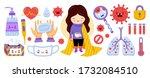 coronavirus covid 19 elememts....   Shutterstock .eps vector #1732084510