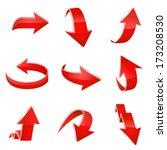 red arrow icon set. vector | Shutterstock .eps vector #173208530