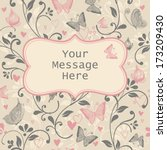 Greeting Card With Butterflies...