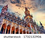 museum of the city of bruxelles ... | Shutterstock . vector #1732132906