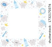 Vector Square Frame With Cute...