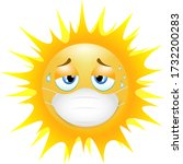 emoji emoticon sun. concept of... | Shutterstock .eps vector #1732200283