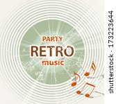 Retro Music Background  ...