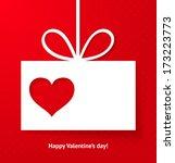 valentine's applique card... | Shutterstock . vector #173223773