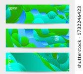 abstract vector wavy pattern... | Shutterstock .eps vector #1732246423