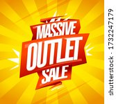 massive outlet sale vector... | Shutterstock .eps vector #1732247179