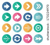 flat and round arrow icons | Shutterstock .eps vector #173224970