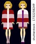 two beautiful girls in... | Shutterstock .eps vector #1732258249