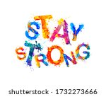 stay strong. vector inscription ... | Shutterstock .eps vector #1732273666