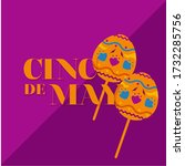 cinco de mayo poster with a... | Shutterstock .eps vector #1732285756