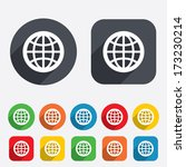 globe sign icon. world symbol....   Shutterstock .eps vector #173230214