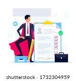 best cv candidate. recruitment...   Shutterstock .eps vector #1732304959