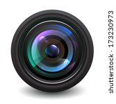 camera lens vector. | Shutterstock .eps vector #173230973