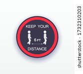 keep your distance sticker...   Shutterstock .eps vector #1732310203