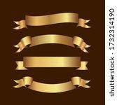 set of golden ribbons vector. | Shutterstock .eps vector #1732314190