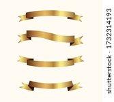 set of golden ribbons vector. | Shutterstock .eps vector #1732314193