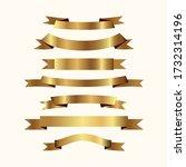 set of golden ribbons vector. | Shutterstock .eps vector #1732314196