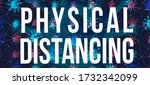 physical distancing coronavirus ... | Shutterstock . vector #1732342099