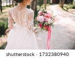 Close Up Of A Bride's Bouquet...