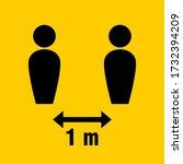 social distancing keep your... | Shutterstock .eps vector #1732394209