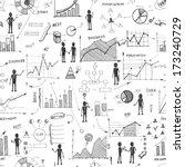 seamless doodle web... | Shutterstock .eps vector #173240729
