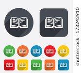 book sign icon. open book...   Shutterstock .eps vector #173242910