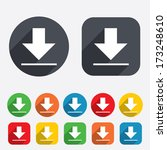 download icon. upload button.... | Shutterstock .eps vector #173248610