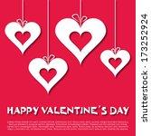 design template   heart for... | Shutterstock .eps vector #173252924