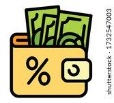 full money wallet icon. outline ...   Shutterstock .eps vector #1732547003