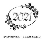 2021 happy new year greeting...   Shutterstock . vector #1732558310