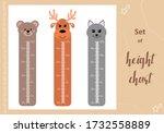 kids space height chart. cute...   Shutterstock .eps vector #1732558889