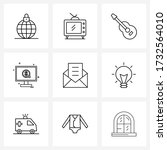 set of 9 ui icons and symbols...