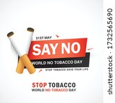world no tobacco day poster or... | Shutterstock .eps vector #1732565690