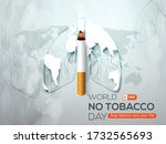 world no tobacco day poster or... | Shutterstock .eps vector #1732565693