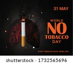 world no tobacco day poster or... | Shutterstock .eps vector #1732565696