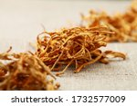 Close Up Of Dried Cordyceps...