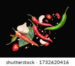 red chili pepper with chili ... | Shutterstock .eps vector #1732620416