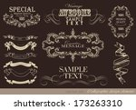 calligraphic design elements... | Shutterstock .eps vector #173263310