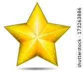big detailed gold icon of star... | Shutterstock . vector #173263886