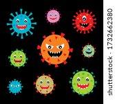 cute covid corona virus 2019...   Shutterstock .eps vector #1732662380