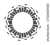 digital sound vibrations logo.... | Shutterstock .eps vector #1732663430