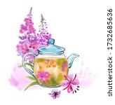 Handmade Watercolor Fire Herba...