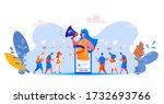 social media management concept ... | Shutterstock .eps vector #1732693766