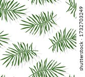 green tropical palm leaves or... | Shutterstock .eps vector #1732703249