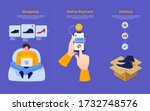 illustration concept mobile... | Shutterstock .eps vector #1732748576