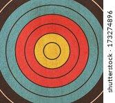 dartboard background in the... | Shutterstock . vector #173274896
