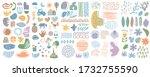 big set of hand drawn various... | Shutterstock .eps vector #1732755590