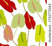 seamless botany floral vector... | Shutterstock .eps vector #1732773263