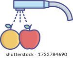 fruit wash outline with fill... | Shutterstock .eps vector #1732784690