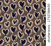 brown heart shaped valentine s... | Shutterstock .eps vector #1732788650